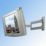 B-Tech LCD TV Tilt and Swivel Articulating arm wall mounting bracket