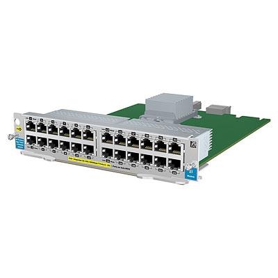 Hewlett Packard Enterprise 24-PORT 10 100 1000 POE+ ZL RFRBD MOD network switch module Gigabit Ethernet