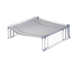 Leitz Universal Riser Platform for Letter Trays Clear Ref 52340092