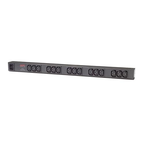 Rack Pdu Basic/ Zero U/ 16a/ 208 - 230v/ Outlets - 15/ Iec 320 C13/ 8.20 Feet - Black