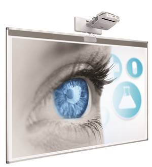 Smit Visual Projection board softline c/w strip for touch module. 83'' projection area