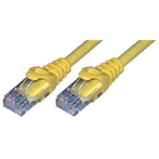 MCL 0.5m Cat6 U/UTP cable de red 0,5 m U/UTP (UTP) Amarillo