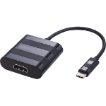 Cablenet 24-0306 cable interface/gender adapter USB Type-C HDMI Black