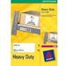 Avery White Heavy Duty Laser Labels