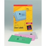 Avery L7567-25 Transparent printer label