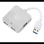 iTEC U3HUBMETAL402 5000Mbit/s Silver interface hub