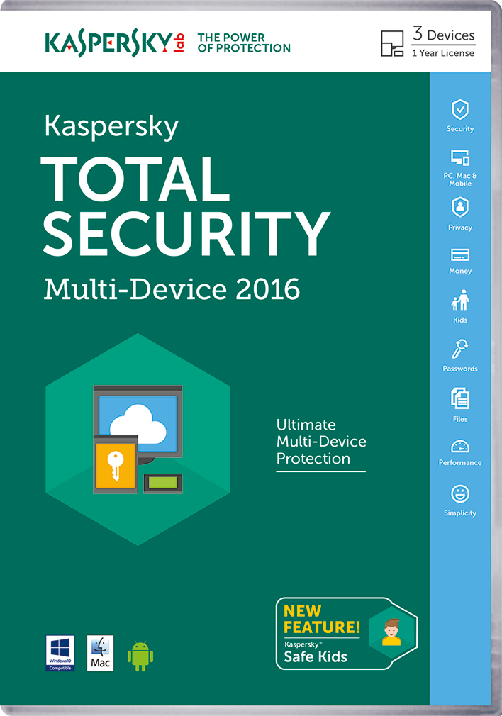 Kaspersky Lab Total Security – Multi-Device 2016