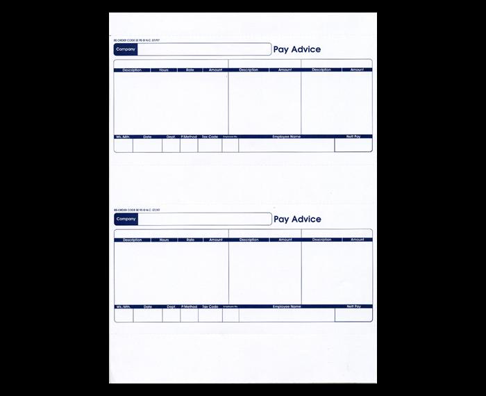 Custom Forms Sage Comp Standard Payslip BX1000