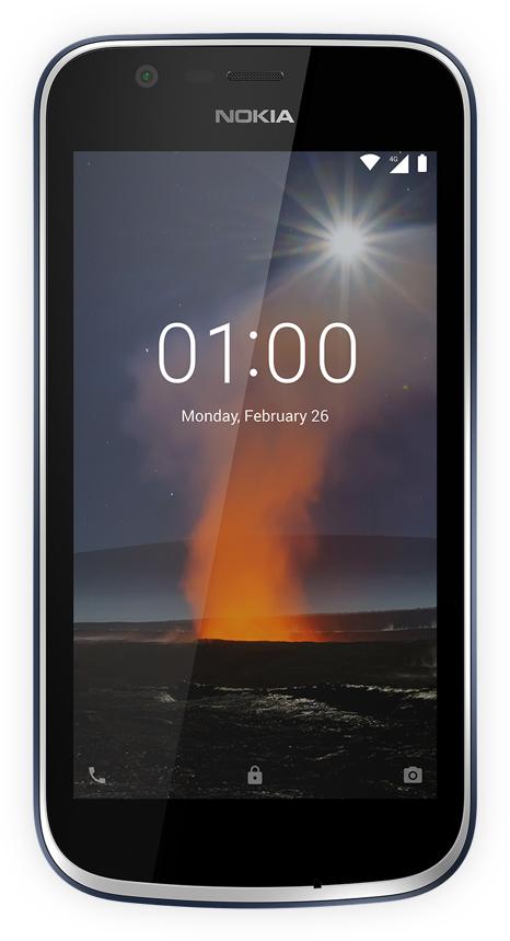"""Nokia 1 4.5"""" 4G 1GB 8GB 2150mAh Blue 11FRTL01A10"""