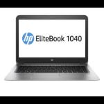 "HP EliteBook 1040 G3 Notebook 35.6 cm (14"") 1920 x 1080 pixels 6th gen Intel® Core™ i7 8 GB DDR4-SDRAM 256 GB SSD Wi-Fi 5 (802.11ac) Windows 7 Professional Silver"