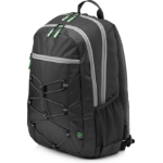 HP Active (Black/Mint Green) backpack Fabric Black/Green