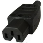 Microconnect C15PLUG C15 Black power plug adapter