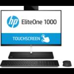 "HP EliteOne 1000 G1 60.5 cm (23.8"") 1920 x 1080 pixels Touchscreen 7th gen Intel® Core™ i5 8 GB DDR4-SDRAM 256 GB SSD Wi-Fi 5 (802.11ac) Black, Silver All-in-One PC Windows 10 Pro"