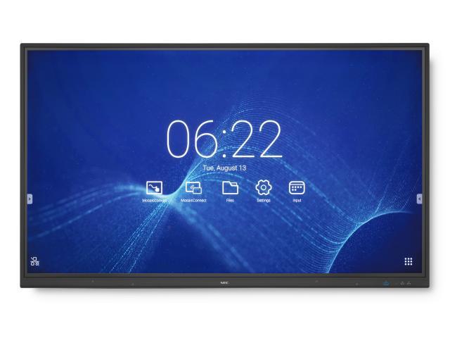 "NEC MultiSync CB861Q 2,18 m (86"") IPS 4K Ultra HD Pantalla táctil Pantalla plana para señalización digital Negro"