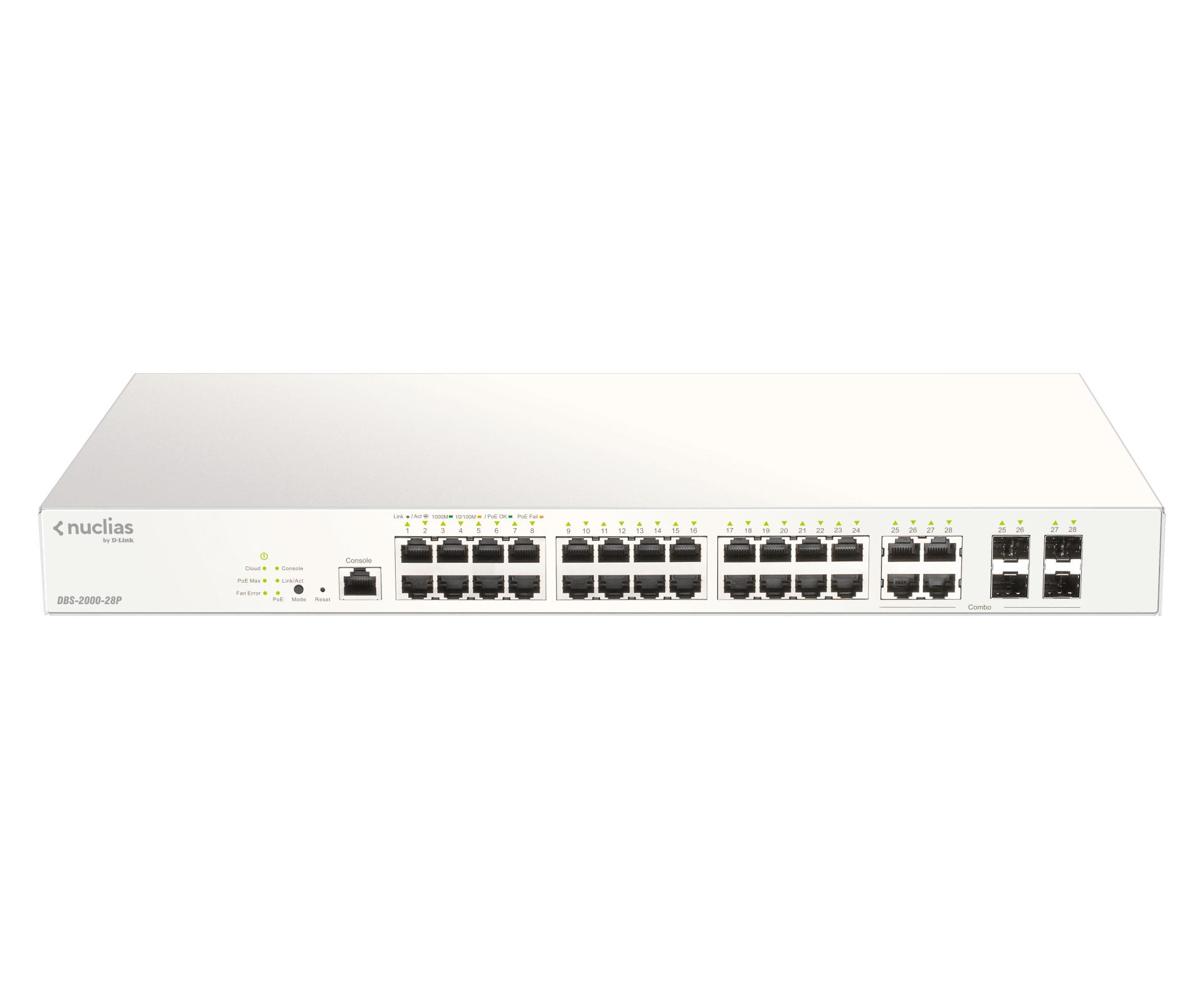 D-Link DBS-2000-28P switch Gris Energía sobre Ethernet (PoE)