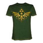 NINTENDO Legend of Zelda Adult Male Royal Crest Cutout T-Shirt, Extra Large, Green (TS406819NTN-XL)
