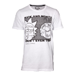 RICK AND MORTY Don't Even Trip T-Shirt, Male, Medium, White (TS540144RMT-M)