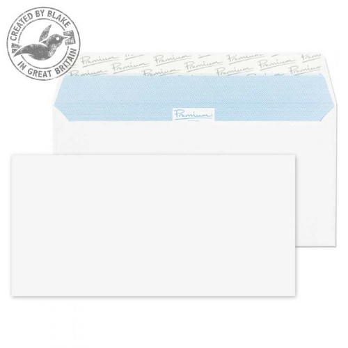 Blake Premium Office Wallet Peel and Seal Ultra White Wove DL 110x220mm 120gsm (Pack 500)