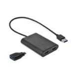 i-tec U3DUAL4KHDMI USB grafische adapter 4096 x 2160 Pixels Zwart