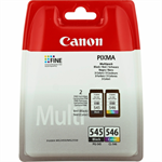 Canon 8287B005 (PG-545 CL 546) Printhead multi pack, 180 pages, 2x8ml, Pack qty 2