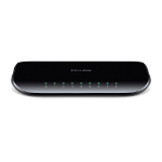 TP-LINK TL-SG1008D Unmanaged Gigabit Ethernet (10/100/1000) Black