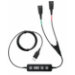 Jabra Link 265 cable de audio USB2.0 2x QD Negro