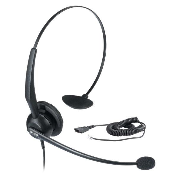 Yealink YHS32 Monaural Head-band Black headset