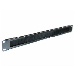 Cablenet 1u Brush Letterbox Cable Tidy Panel Black