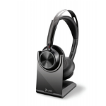 POLY Voyager Focus 2 UC Headset Head-band USB Type-C Bluetooth Charging stand Black