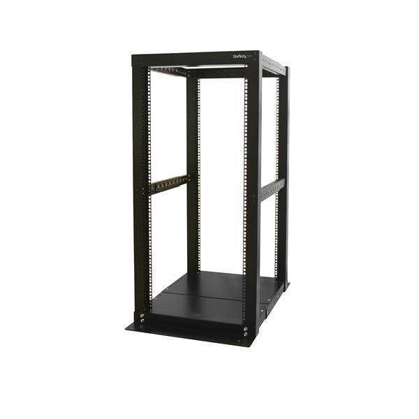 StarTech.com 25U Adjustable Depth 4 Post Open Frame Server Rack Cabinet 4POSTRACK25
