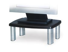 Adjustable Monitor Stand (ms80b) In Silver & Black