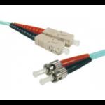 Hypertec 391800-HY fibre optic cable 1 m SC ST OM3 Aqua colour