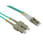 Cables Direct 2.0m LC-SC 50/125 MMD OM3 fibre optic cable 2 m Blue