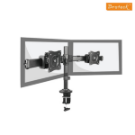 """Brateck Outstanding Dual LCD Desk Mounts with Desk Clamp VESA 75/100mm Up to 27"""""""