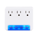CyberPower P3WUH surge protector White 3 AC outlet(s) 125 V