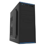 Spire Jet Stream ATX Case, 500W, USB3, 8cm Fan, Black with Blue Stripe