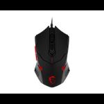 MSI Interceptor DS B1 USB Optical 1600DPI Ambidextrous Black,Red mice