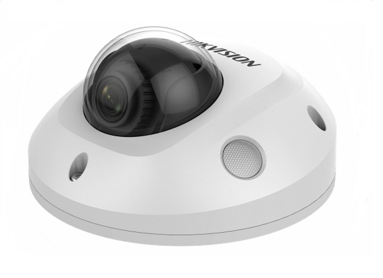 Hikvision 6MP network mini dome camera with IR & built in microphone