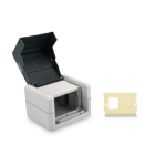 Digitus Outdoor Surface Mount Box with Hinged Lid, incl. Inlet for 2 x Keystone Modules, IP44