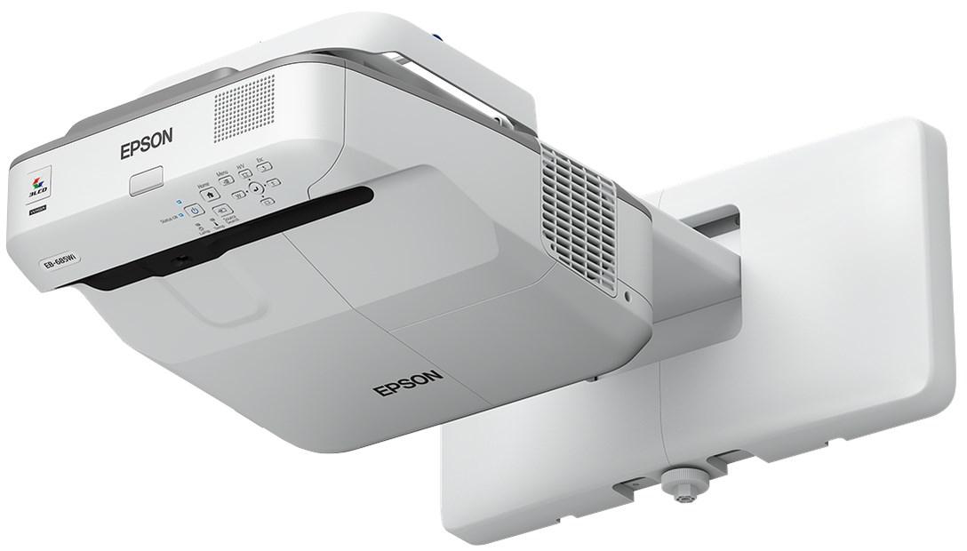 Epson EB-695Wi UST Interactive Projector & Bracket Bundle