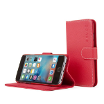 """TheSnugg B0151OO3BQ 4.7"""" Wallet case Red mobile phone case"""