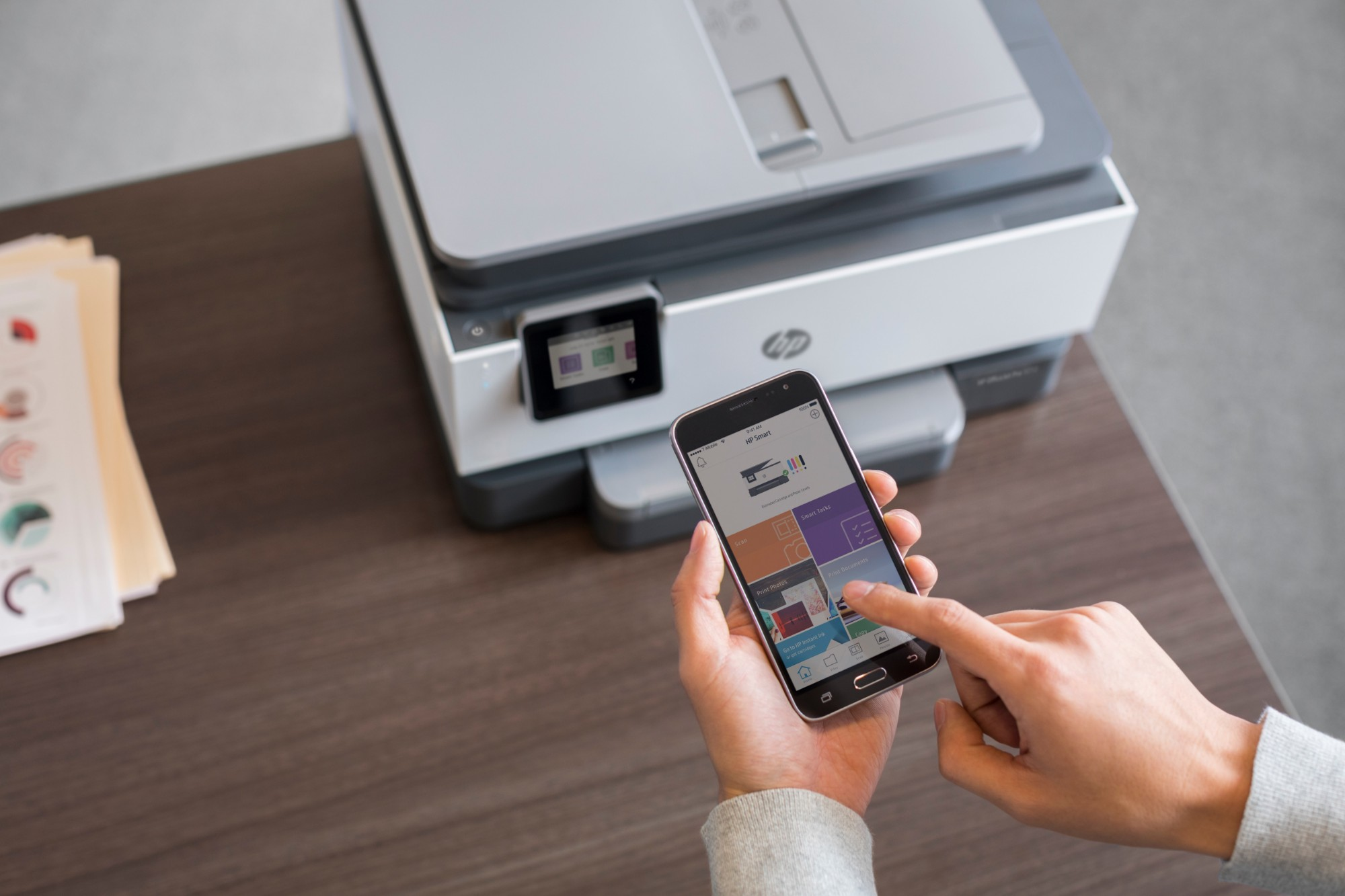 HP OfficeJet Pro 9012 All-in-one wireless printer Print,Scan,Copy from your  phone, Instant Ink ready & voice activated (works with Alexa and Google