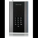 iStorage diskAshur DT2 256-bit 10TB USB 3.1 FIPS Level 3 certified, secure encrypted desktop hard drive IS-DT2-256-10000-C-X