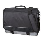 LSM Consumer Lightpak Wave Polyester Messenger Bag Black/Grey DD