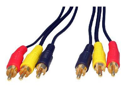 Cables Direct 2RR3-03 3m 3 x RCA 3 x RCA Multicolour audio cable