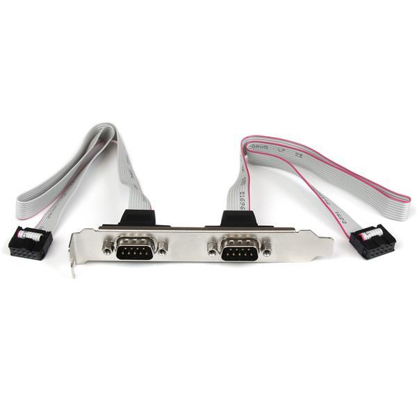 StarTech.com Cabezal Bracket 2 puertos COM de Serie Serial - 2x DB9 Macho - 2x IDC10 Hembra