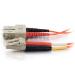 C2G 1m LC/SC LSZH Duplex 50/125 Multimode Fibre Patch Cable