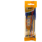BIC CRISTAL MED BALL PENS PCH 4 AST