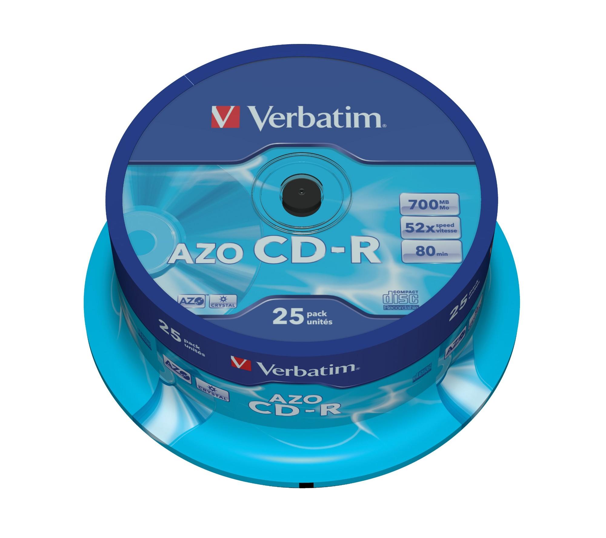 Verbatim CD-R AZO Crystal 700 MB 25 pc(s)