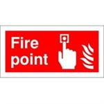 FSMISC SIGN 100X200 FIRE POINT S/A